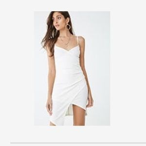 Women's white dress with slit